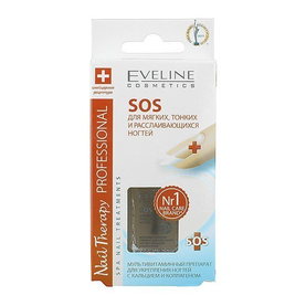 Eveline Nail Theraphy professional 12мл. SOS Препарат для мягких,тонких и расслаивающихся ногтей